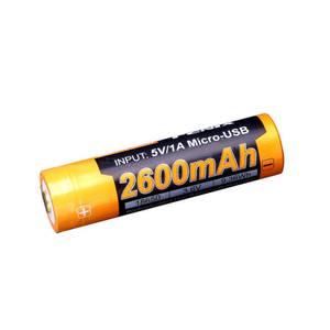 Bilde av Fenix batteri 18650 3,6V 2600mAh USB