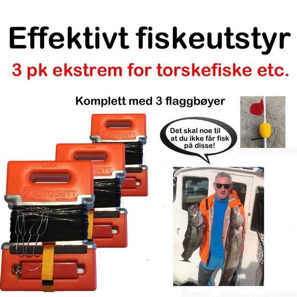Bilde av 3 pk Ekstrem for sveiv m/Flaggbøyer