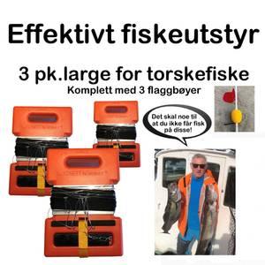 Bilde av 3 pk Large for sveiv m/Flaggbøyer