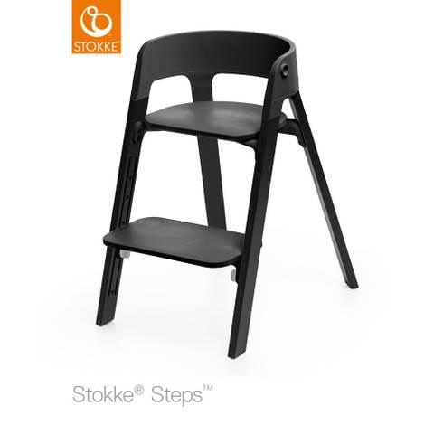 Bilde av Stokke Steps Barnestol, Black