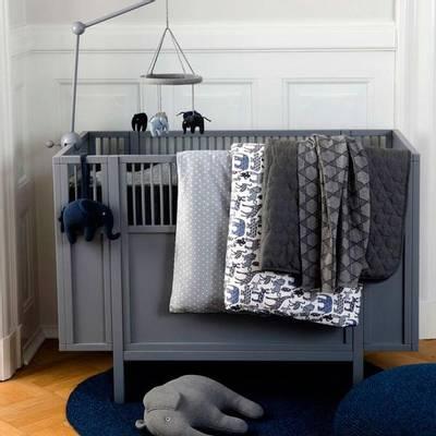 Bilde av Smallstuff Square baby seng 60x120Hvit