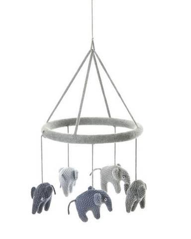 Bilde av Smallstuff Mobile Uro m/Elefanter, Grey/Blue