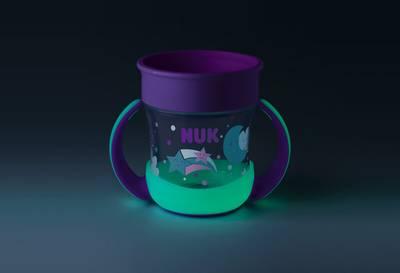 Bilde av NUK Mini Magic Cup Glow In The Dark, Lilla