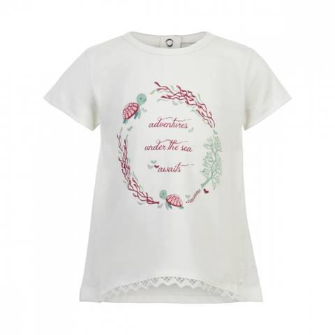 Bilde av Minymo T-Shirt SS Print, White