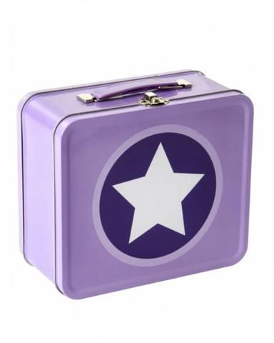 Bilde av Smallstuff Metal suitcase Stars, Lavender
