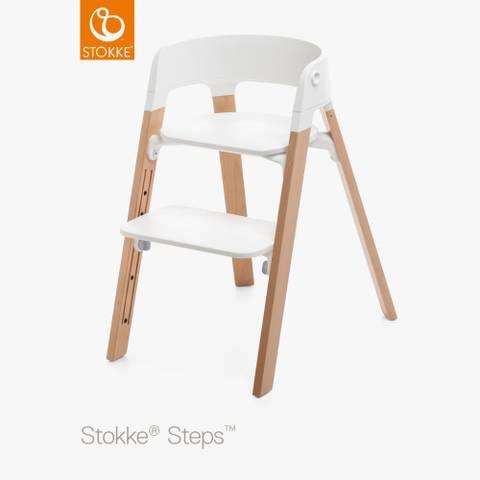 Bilde av Stokke Steps Barnestol, White/Natural