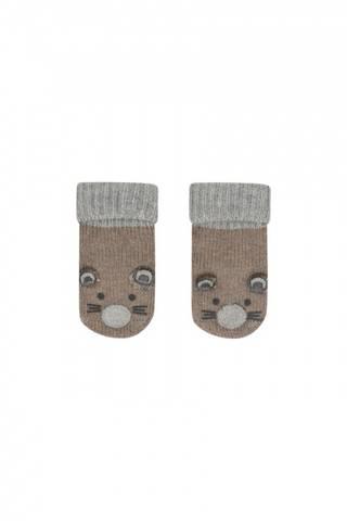 Bilde av Hust&Claire Strikket sokker, Antiskli-Mus