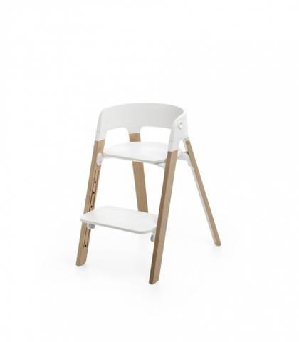 Bilde av Stokke Steps Barnestol, White/Natural Oak