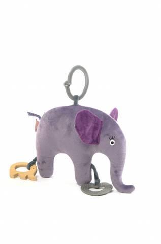 Bilde av Smallstuff Aktivitets Elefant, Blue rose