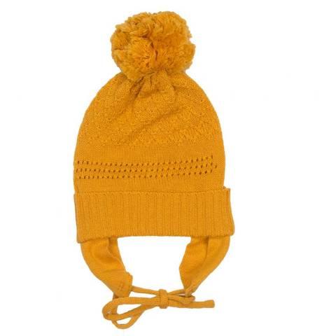 Bilde av MeMini Flap Beanie, Apricot Yellow