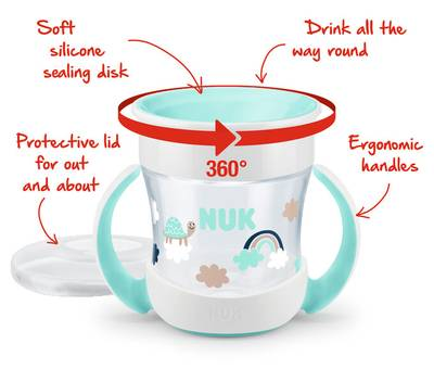 Bilde av NUK Evolution Mini Magic Cup, Rosa