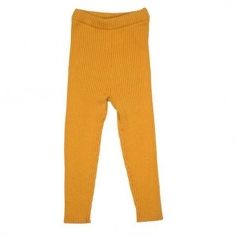Bilde av MeMini Patent Baby Leggings, Apricot Yellow