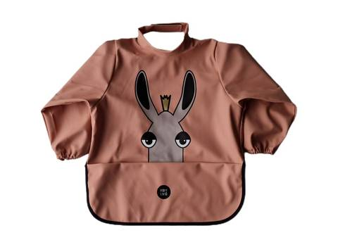 Image of Long sleeve bib - Moose Muted Clay