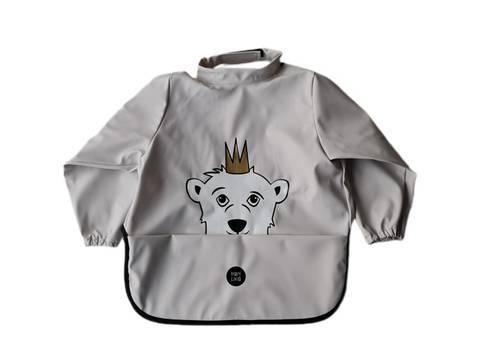 Image of Long sleeve bib - Polar Bear Rainy Day