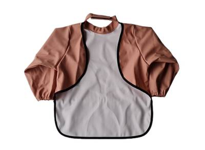 Image of Long sleeve bib - Rooster Muted Clay