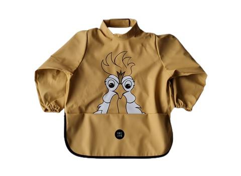 Image of Long sleeve bib - Rooster New Wheat
