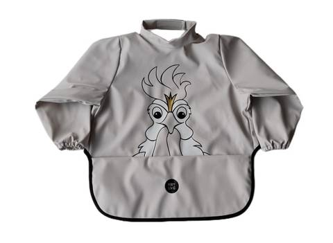 Image of Long sleeve bib - Rooster Rainy Day