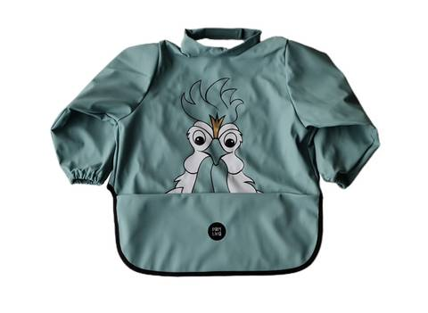 Image of Long sleeve bib - Rooster Blue Surf