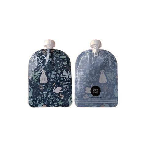 Image of Squeezy - Reusable food pouch 6-pack Ocean