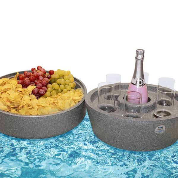 Pool Mate flytende spabar/ serveringsbrett med overdel/ lokk.