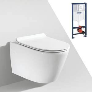 Bilde av Toalettpakke: Badnor Ravenna / Grohe Rapid SL m/ krom betj. plat