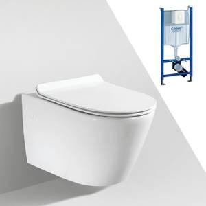 Bilde av Toalettpakke: Badnor Ravenna / Grohe Rapid SL m/ hvit betj. plat