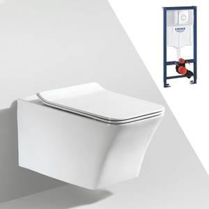 Bilde av Toalettpakke: Badnor Sassari / Grohe Rapid SL m/ krom betj. plat