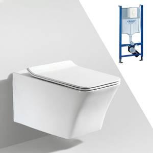 Bilde av Toalettpakke: Badnor Sassari / Grohe Rapid SL m/ hvit betj. plat