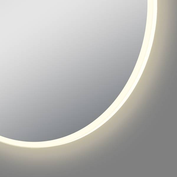 Lissie rundt baderomsspeil med LED-belysning 90cm