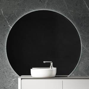 Bilde av Sissel rundt baderomsspeil med lys og antidugg 130cm