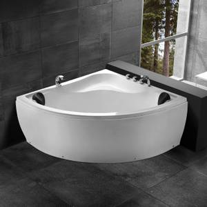 Bilde av Badnor Blanca badekar m/ innb. blandebatt. 140x140cm