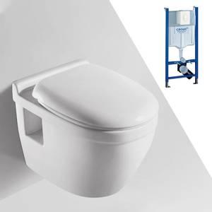 Bilde av Toalettpakke: Badnor Trento / Grohe Rapid SL m/ hvit betj. plate
