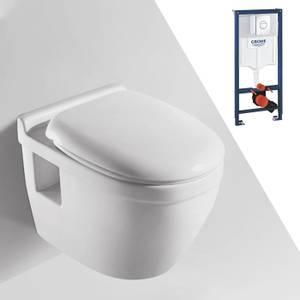Bilde av Toalettpakke: Badnor Trento / Grohe Rapid SL m/ krom betj. plate