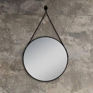 Bilde av Lina rundt speil med sort ramme 60cm