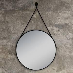 Bilde av Lina rundt speil med sort ramme 80cm