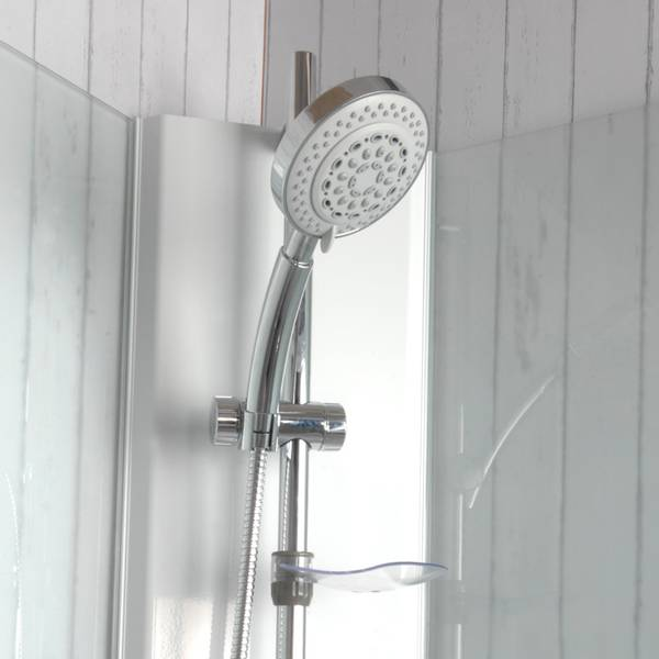 Badnor Nordica lux 7-3 dusjkabinett 90x90cm, HVIT