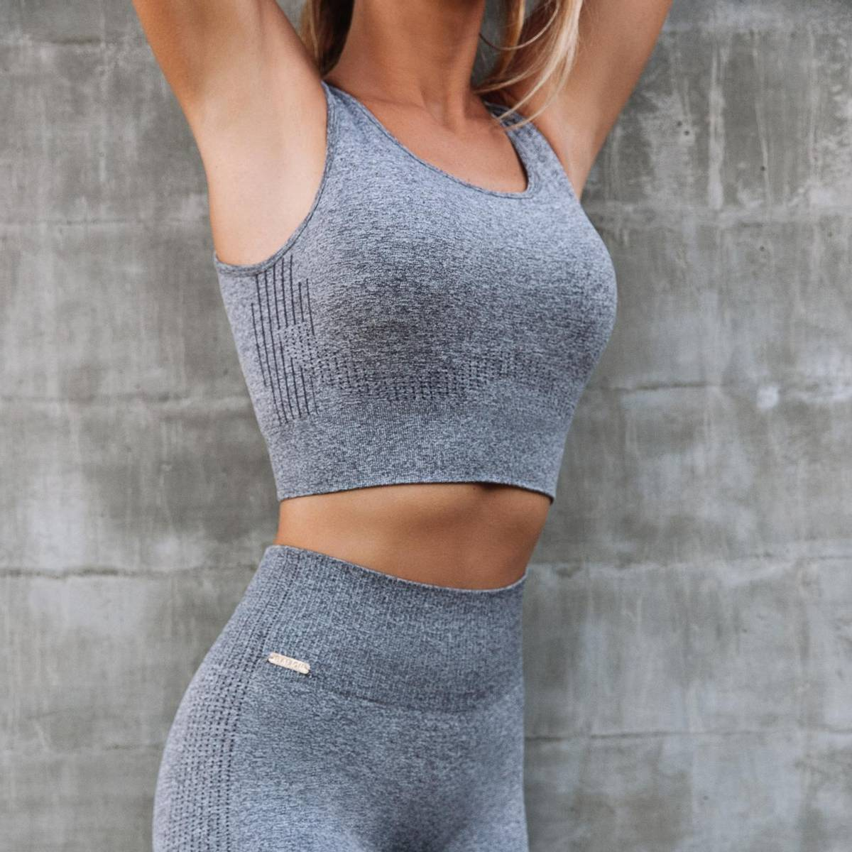 Seamless Sportsbh Heather Grey