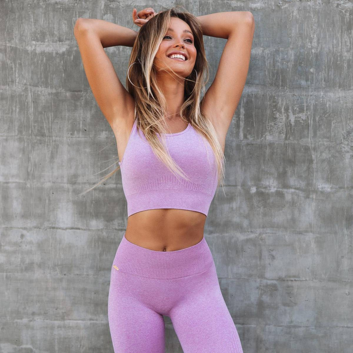 Seamless Sportsbh Heather Pink