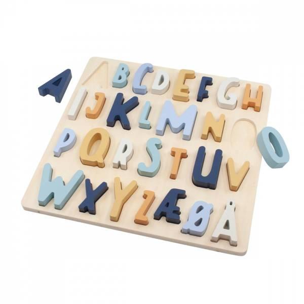 Sebra alfabet puslespill