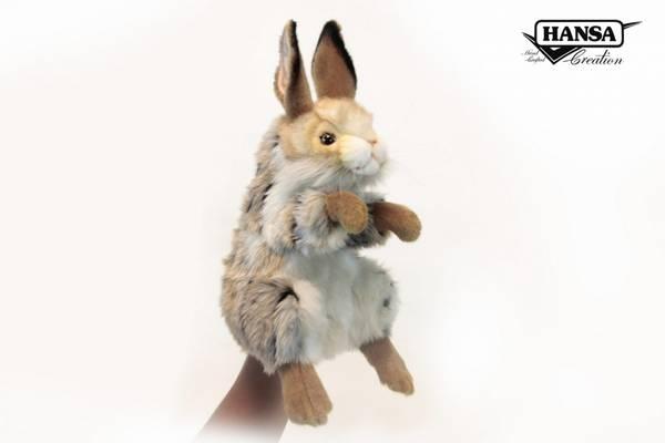 HansaCreation hånddukke brun kanin