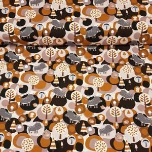 Bilde av Villsvin brun - bomull jersey