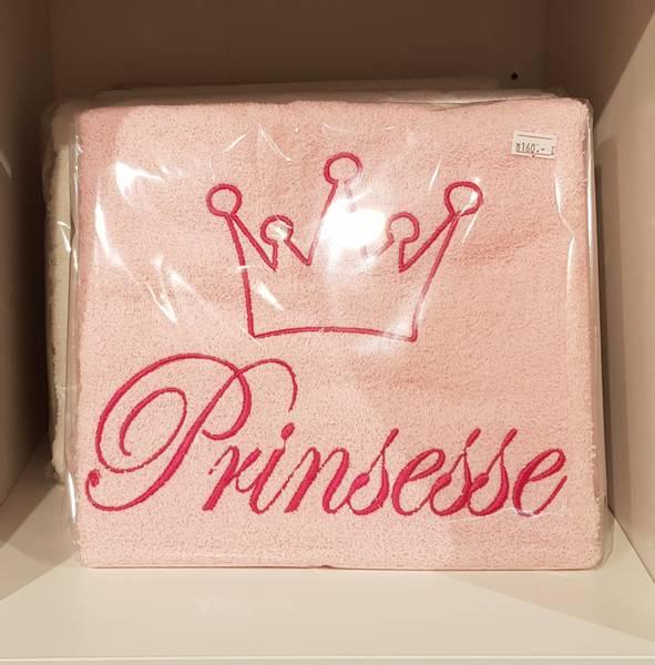 Håndkle til prinsesse 50x100