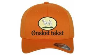 Bilde av Flexfit jakt caps emblem hvit elghund