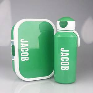 Bilde av Matboks og flaske - grønn