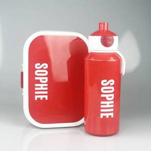 Bilde av Matboks og flaske - rød