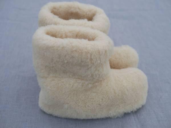 Bilde av Ullfleece tøfler - hvite