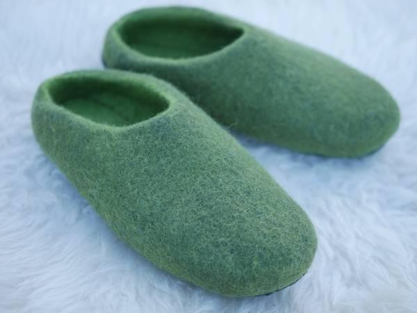 Bilde av  Tova tøfler - mosegrønn
