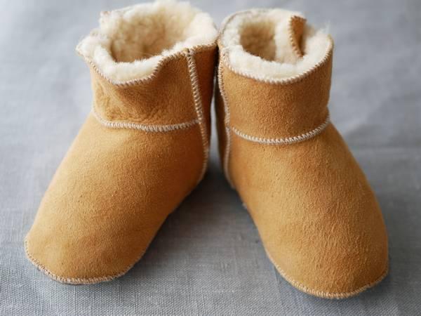 Bilde av Lammeskinnstøfler boots barn