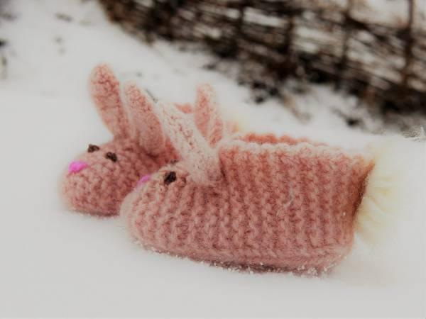 Bilde av Oppskrift på Lille kanin tova tøfler - barn