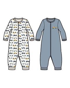 Bilde av name it pysjamas 2 pk zip Dusty Blue